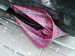 Tartan lost brolly, found at Grand Parade.
