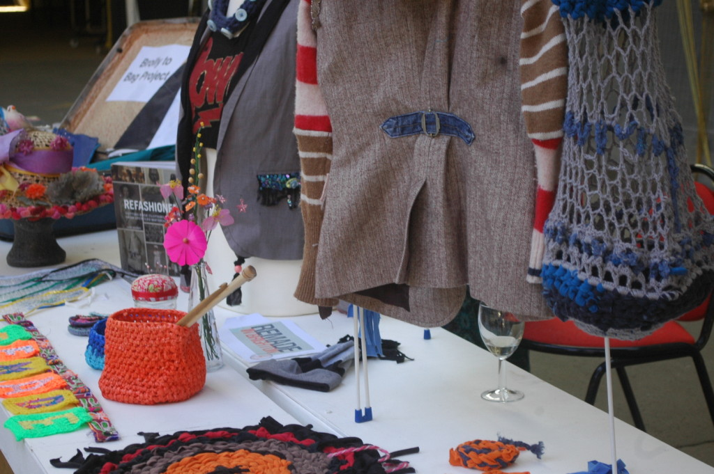 Selection of refashioned, Remade in Brighton's project suitcase.
