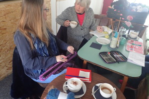 Sarah's knitting Lap Loom